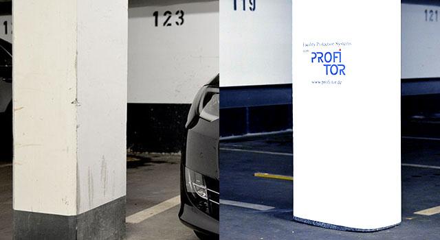 Schäden in Parkhäusern und eine saubere Lösung mit Scratch Protect