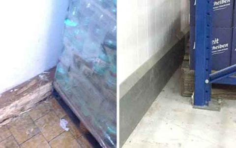 FPS Sockelleiste Palette auf Anschlag Wand beschädigt